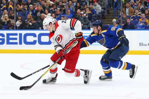 Canes vs. Blues Recap and Rank 'Em: Late Upshall goal gives St. Louis 3-2 win