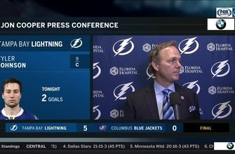 Jon Cooper says Lightning needed a reality check after 1st period