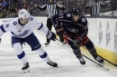 Johnson scores twice in Lightning's 5-0 rout of Columbus