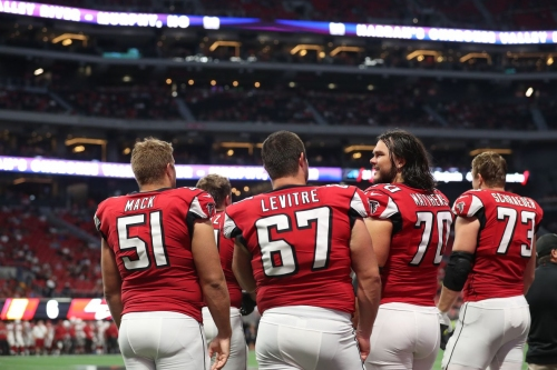 Falcons send OG Andy Levitre to injured reserve with torn tricep; Ben Garland is up