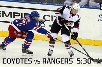 Preview: Coyotes vs. Rangers, 5:30 p.m., FOX Sports Arizona