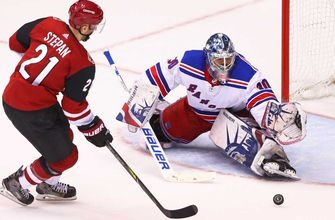 Coyotes can't crack Lundqvist, fall to Rangers in shootout