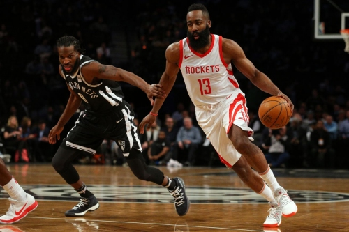 Harden, Rockets too much for Nets: 123-113