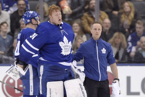 Leafs celebrate Frederik Andersen's quick return after 'scary moment'