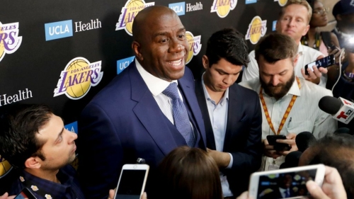 Los Angeles Lakers fined $50,000 after Magic Johnson violates league 'anti-tampering' rule