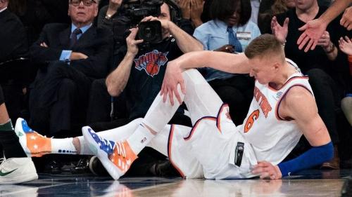 MRI reveals torn ligament in left knee of Knicks' Kristaps Porzingis