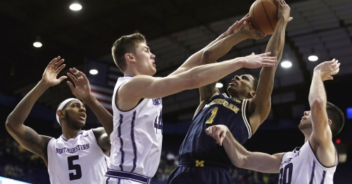 Rapid Reaction: Northwestern defeats Michigan 61-52 to earn best win of the year