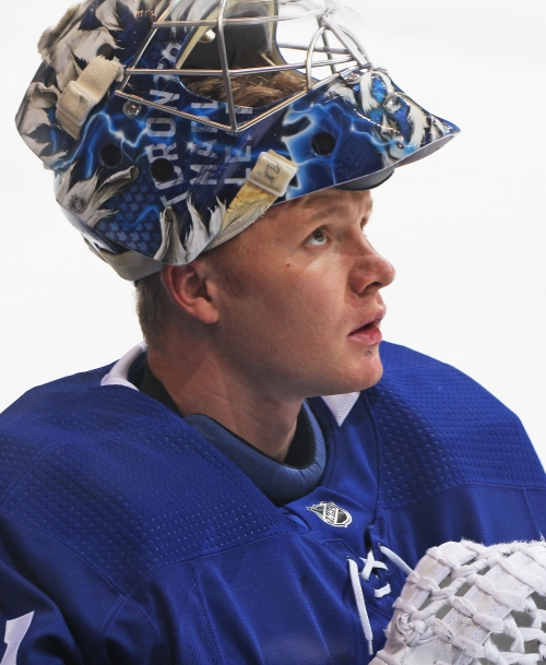 Toronto Maple Leafs: Frederik Andersen Practices After Collision