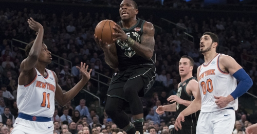 Bucks 103, Knicks 89: Milwaukee runs away after all-star Kristaps Porzingis tears ACL