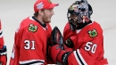 When Corey Crawford returns, backup goalie choice likely easy for Blackhawks