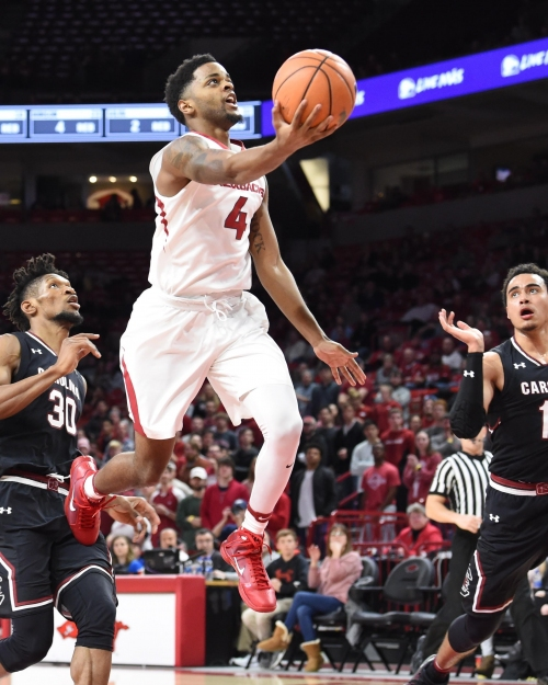 UA Basketball: Seniors Macon, Barford pace Razorbacks in 81-65 win over Gamecocks