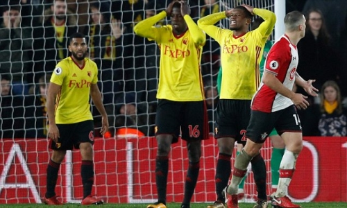 Watford supporters vent their fury at players and the Pozzo family