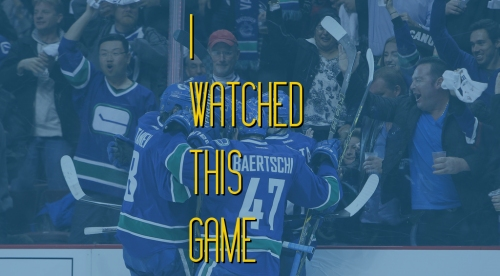 I Watched This Game: Florida sinks the Canucks