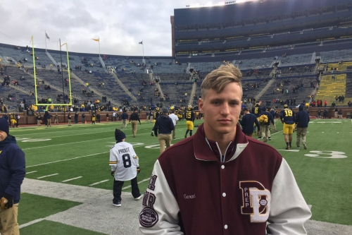 """Meet new Michigan receiver Mike Geraci: """"They have been very excited about me"""""""