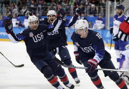 Boston Bruins prospect Ryan Donato scores 2 goals in Team USA's win over Slovakia at Winter Olympics (video)