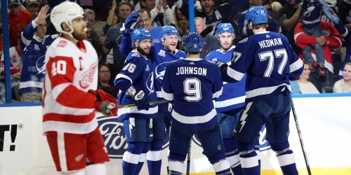 Red Wings losing streak to Tampa Bay Lightning now 11 after 4-1 loss