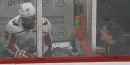 Devante Smith-Pelly drenches heckling fan from penalty box
