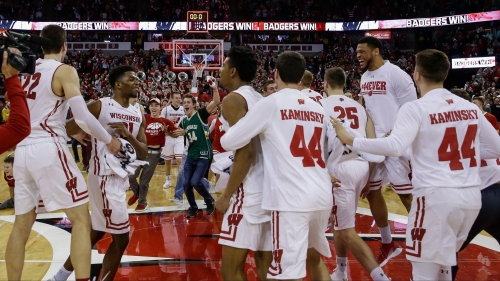 Ethan Happ's double-double leads Wisconsin to 57-53 upset over No. 6 Purdue
