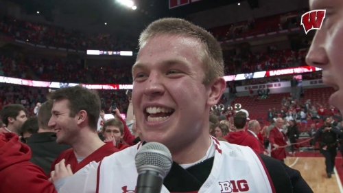 Video: Storming and stomping after Badgers beat Purdue