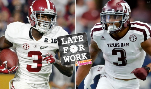 Late for Work 2/16: Ranking Top Five Receivers and Tight Ends in NFL Draft