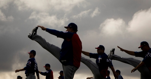Photos: Rangers pitchers and catchers first Spring Training workout features new faces and old friends