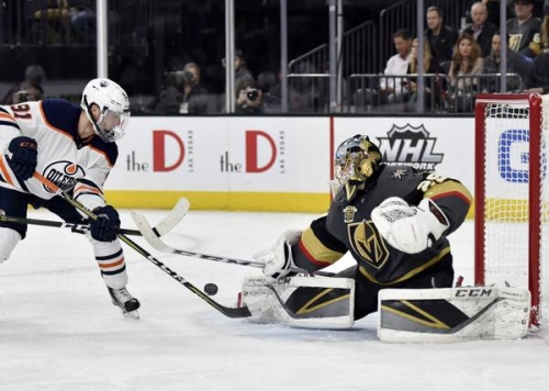 Live Blog: Golden Knights get first win over Oilers in 4-1 rout