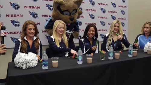 Titans cheerleaders take Hot Pepper Challenge for ALS