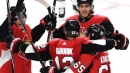 Hoffman scores in OT as Senators rally past Sabres, 3-2