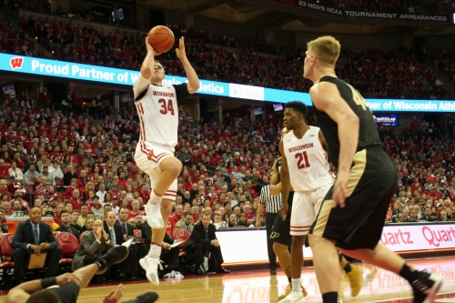 Men's Basketball: Badgers knock off No. 6 Purdue Boilermakers on Frank Kaminsky night