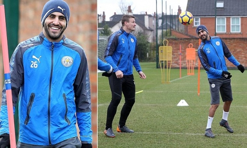 Riyad Mahrez returns to Leicester training after failed Man City move
