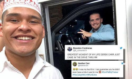 In-N-Out worker goes viral after customer is Raiders QB Derek Carr