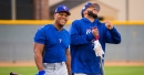 Photos: With Beltre arriving in camp, a chilly morning turns festive; Rangers position players officially report to Spring Training