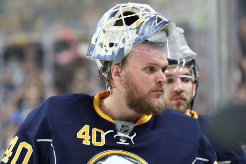 Lehner back on the ice for the Sabres as trade rumors swirl