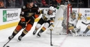 Golden Knights sloppy without Neal, blanked by Ducks 2-0