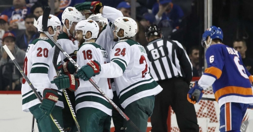 Big second period helps Wild finish off Islanders 5-3