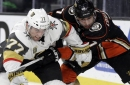 Golden Knights stifled in shutout loss to Ducks