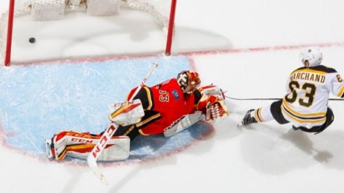 Marchand scores OT winner as Bruins down Flames | CBC Sports
