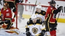 Bruins beat Flames in overtime