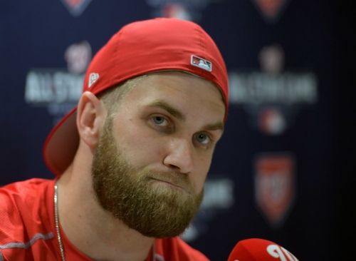 Bryce Harper really doesn't want to talk about free agency