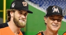 Miami Marlins' skipper Don Mattingly tells Bryce Harper to mind his own business after Harper comments on the Fish...