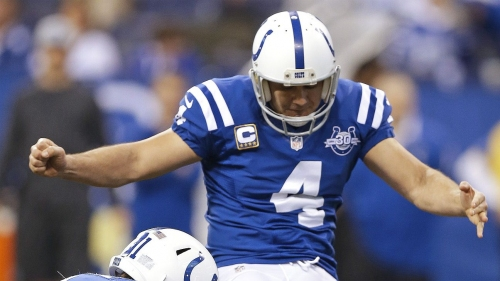 Kicker Adam Vinatieri is close to a one-year deal to return to the Indianapolis Colts