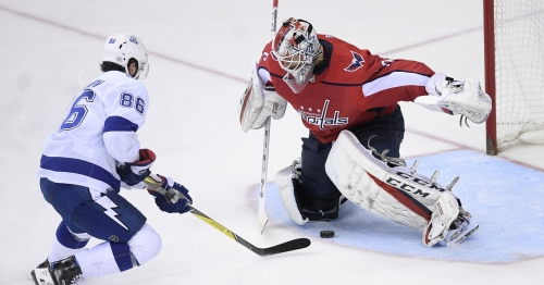 Nikita Kucherov repeats All-Star move against Braden Holtby for another goal