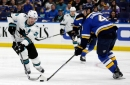 Couture line propels Sharks to win over Blues