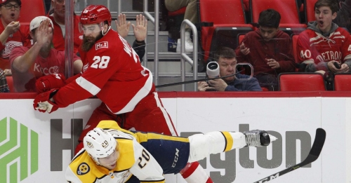 NOBODY DEFEATS THE NASHVILLE PREDATORS SEVEN TIMES IN A ROW: Red Wings Lose 3-2