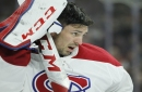 Canadiens goalie Price uncertain after taking shot off mask