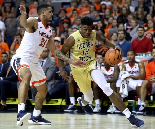 No. 1 Virginia shakes off rust, tops Jackets, clinches ACC tourney top seed