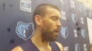 Griz center Marc Gasol after All Star break