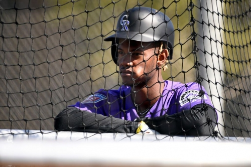 Rockies outfielder Raimel Tapia has added a few pounds. Now he's trying to muscle his way into the lineup