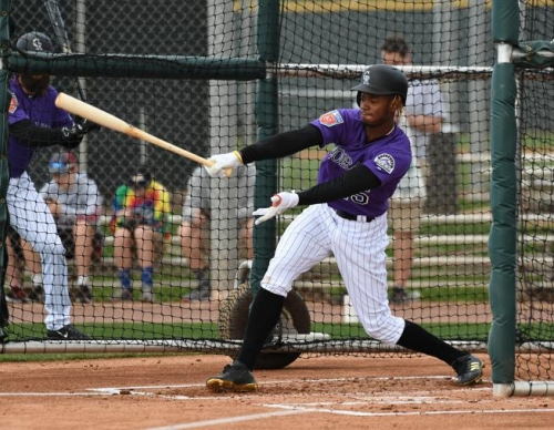 Outfielder Raimel Tapia trying to muscle his way into Colorado Rockies' lineup