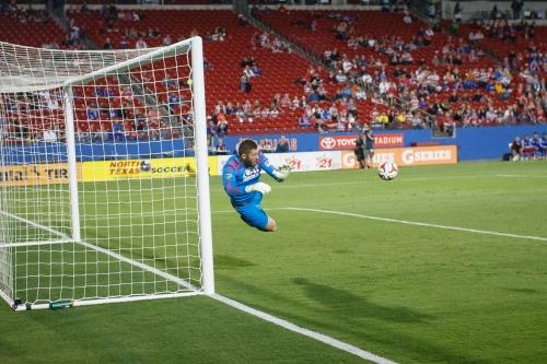 Dynamo's Chris Seitz makes 'video game' save on penalty kick